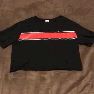 Garage black crop tshirt